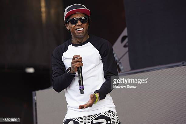 Lil Wayne performs live during the 2015 Billboard Hot 100 Music Festival at Nikon at Jones Beach Theater on August 22 2015 in Wantagh New York