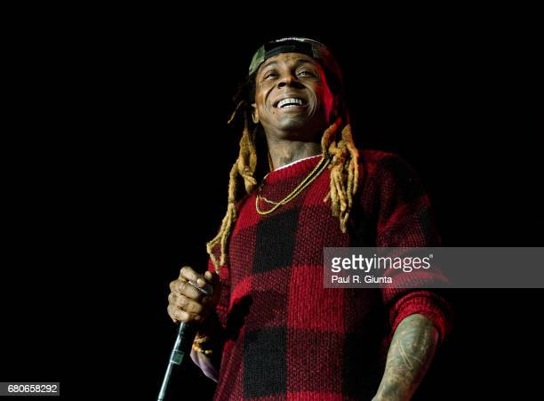Lil Wayne performs on stage at CocaCola Roxy on May 8 2017 in Atlanta Georgia