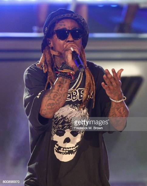 Lil Wayne performs onstage at 2017 BET Awards at Microsoft Theater on June 25 2017 in Los Angeles California