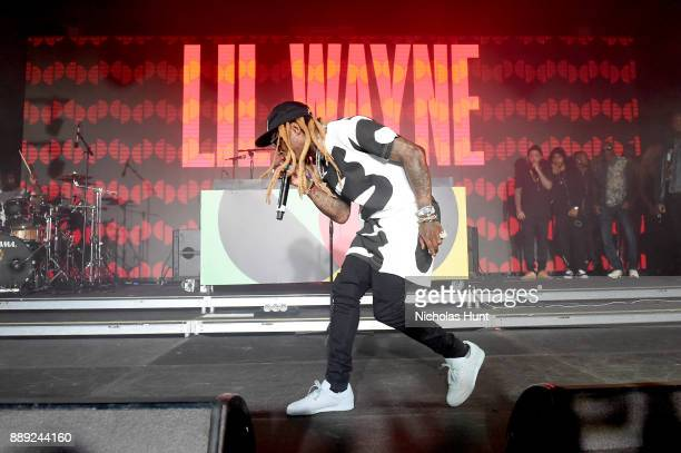 Lil Wayne performs onstage during BACARDI Swizz Beatz and The Dean Collection bring NO COMMISSION back to Miami to celebrate 'Island Might' at Soho...