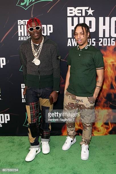 Lil Yachty and Burberry Perry attend the BET Hip Hop Awards 2016 Green Carpet at Cobb Energy Performing Arts Center on September 17 2016 in Atlanta...