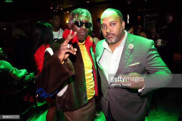 Lil Yachty and Michael D Armstrong arrive at the 2017 BET Hip Hop Awards on October 6 2017 in Miami Beach Florida