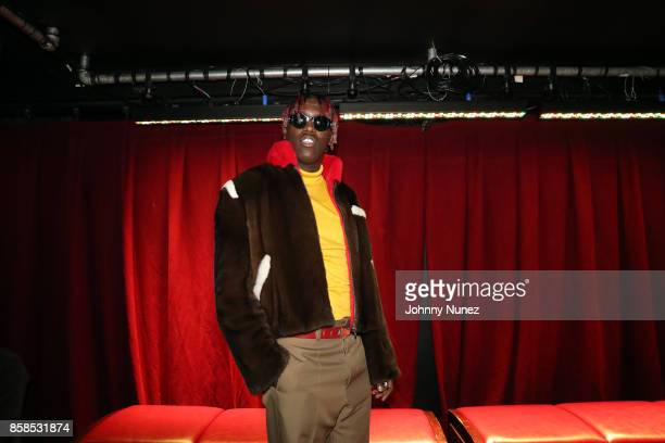Lil Yachty arrives at the 2017 BET Hip Hop Awards on October 6 2017 in Miami Beach Florida
