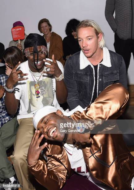 Lil Yachty ASAP Ferg and Diplo attend the Helmut Lang Seen By Shayne Oliver fashion show during New York Fashion Week on September 11 2017 in New...