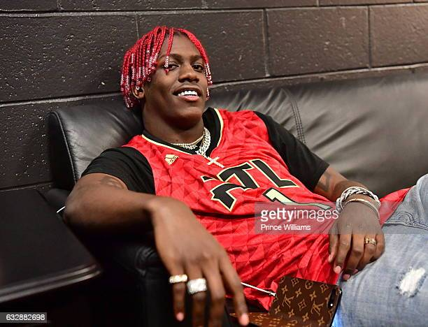 Lil Yachty back stage During the Washinton Wizards VS Atlanta Hawks Game at Philips Arena on January 27 2017 in Atlanta Georgia