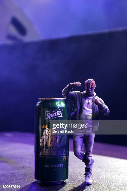 Lil Yachty miniature figure onstage at night three of the STAPLES Center Concert sponsored by Sprite during the 2017 BET Experience at Staples Center...