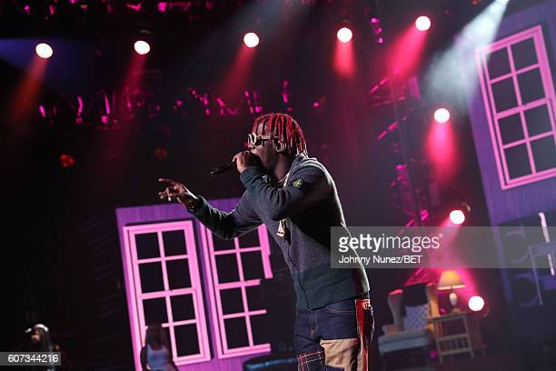Lil Yachty poses backstage during the 2016 BET Hip Hop Awards at Cobb Energy Performing Arts Center on September 17 2016 in Atlanta Georgia