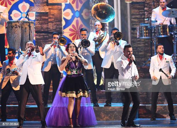 Lila Downs and Banda El Recodo perform onstage at the 18th Annual Latin Grammy Awards at MGM Grand Garden Arena on November 16 2017 in Las Vegas...