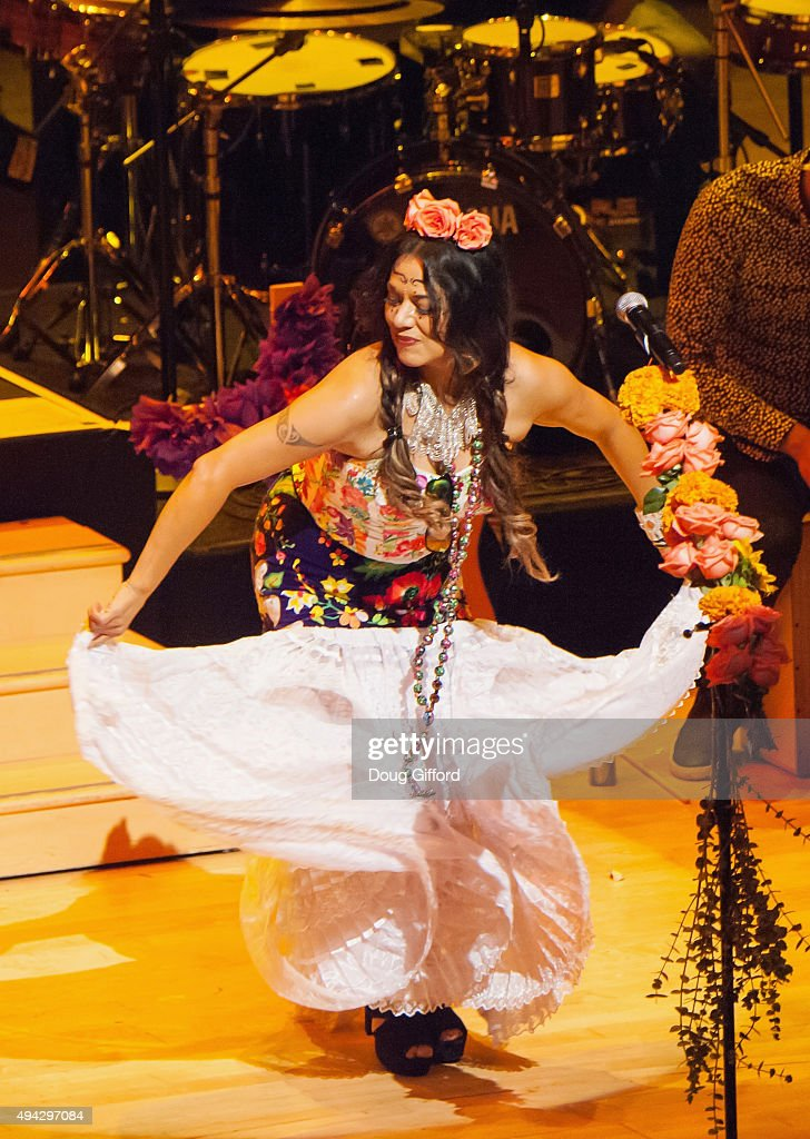 Lila Downs performs in the Renee and Henry Segerstrom Concert Hall at Segerstrom Center For The Arts on October 25, 2015 in Costa Mesa, California.