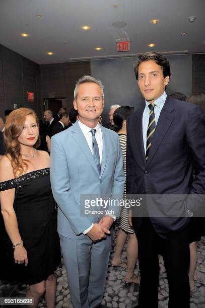 Lila Feinberg Rob Price and Dennis Paul attend 2017 Museum Of The Moving Image Industry Honors at Park Hyatt Hotel New York on June 6 2017 in New...