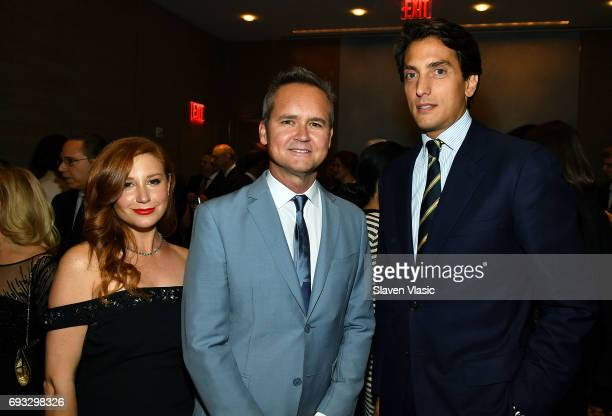 Lila Feinberg Rob Price and Dennis Paul attend Museum of the Moving Image Award for Achievement in Media and Entertainment at Park Hyatt Hotel New...