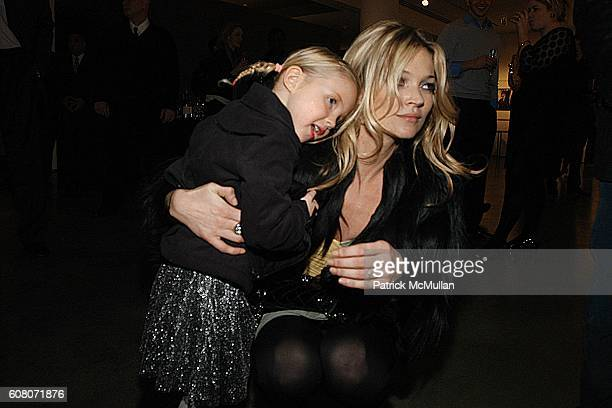 Lila Grace Hack and Kate Moss attend KATE MOSS and NIKON Host a Photograph Auction Benefiting The SAM RUBY Charity at Milk Gallery on December 1 2006...