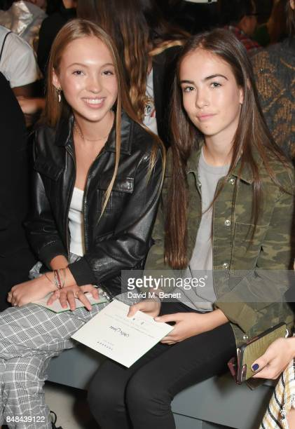 Lila Grace Moss Hack and Stella Jones attend Topshop's London Fashion Week show on September 17 2017 in London England