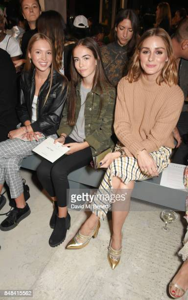 Lila Grace Moss Hack Stella Jones and Olivia Palermo attend Topshop's London Fashion Week show on September 17 2017 in London England