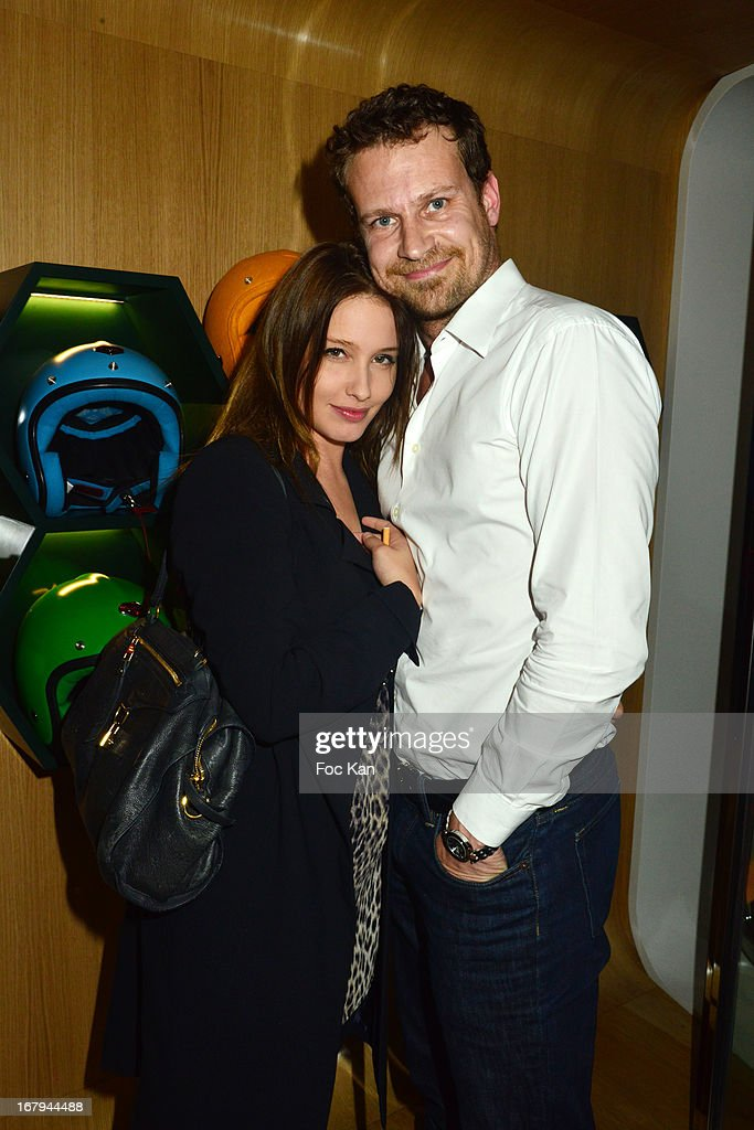 Lila Salet and Gael Polles attend the Sam Bobino DJ Set Party At The Hotel O y on April 25, 2013 in Paris, France.