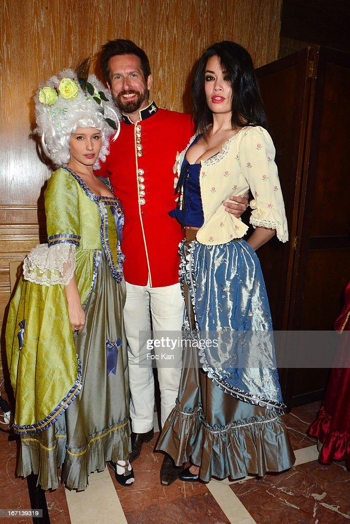 Lila Salet, Sam Bobino and Caroline Le Quang attend the 'Bal Des Princesses 2013' At the Pavillon Royal on April 20, 2013 in Paris, France.