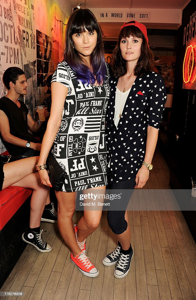 Lilah Parsons (L) and Charlotte De Carle attend Converse At The Circle, celebrating the Chuck Taylor All Star 'Rock Craftsmanship' collection, on August 1, 2013 in London, United Kingdom.