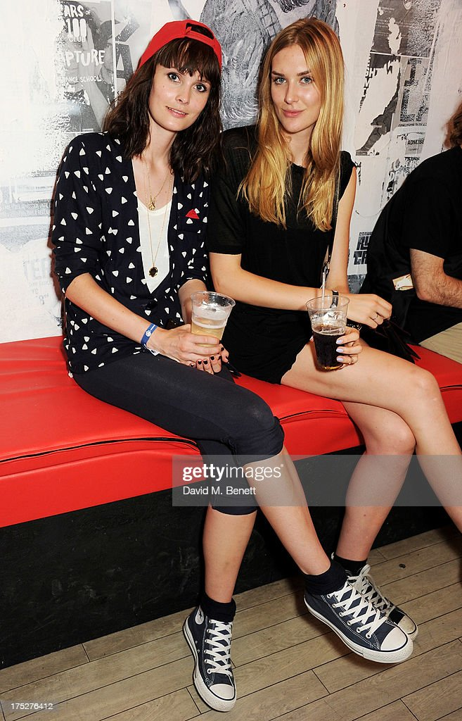 Lilah Parsons (L) and Tabitha Hall attend Converse At The Circle, celebrating the Chuck Taylor All Star 'Rock Craftsmanship' collection, on August 1, 2013 in London, United Kingdom.