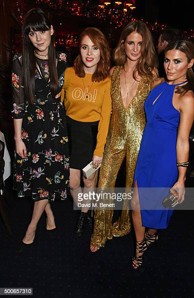 Lilah Parsons Angela Scanlon Millie Mackintosh and Zoe Hardman attend the Sunday Times Style Christmas Party at Tramp on December 9 2015 in London...