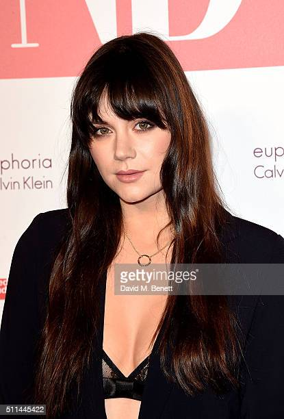 Lilah Parsons at The Naked Heart Foundation's Fabulous Fund Fair in London at Old Billingsgate Market on February 20 2016 in London England
