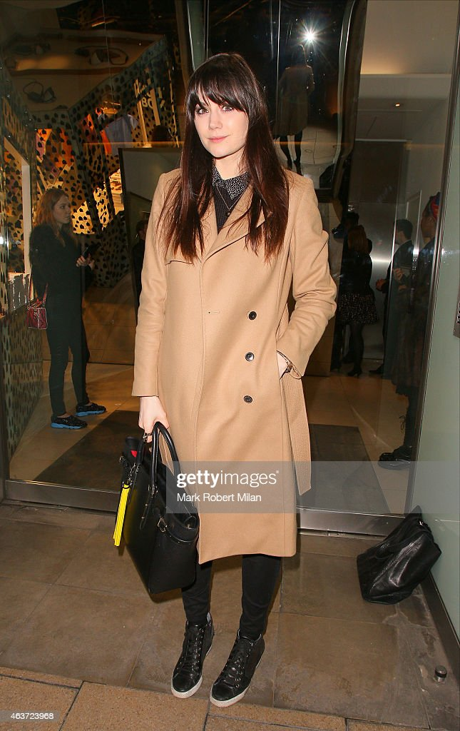 Lilah Parsons attending the Dior 'Diorama' Launch at Dover Street Market on February 17 2015 in London England