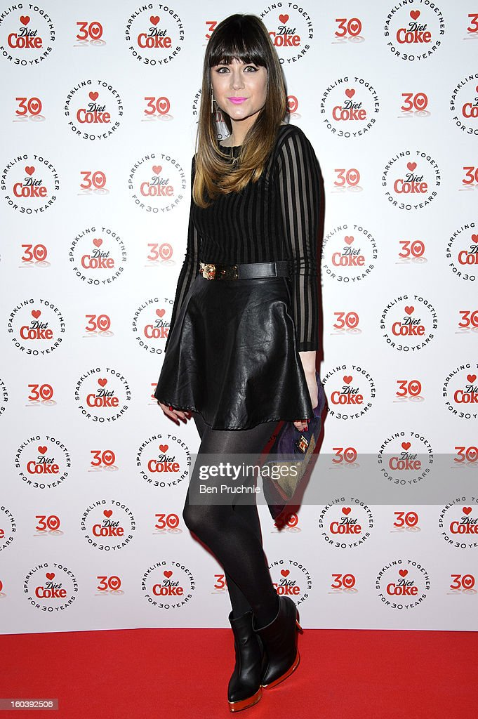 Lilah Parsons attends a party hosted by Diet Coke at Sketch on January 30, 2013 in London, England.