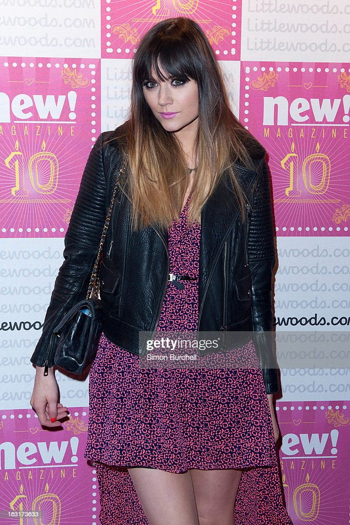 Lilah Parsons attends as New magazine celebrate 10 years in print at Gilgamesh on March 5, 2013 in London, England.