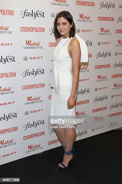 Lilah Parsons attends Cosmopolitan #Fashfest 2016 VIP show and party at Old Billingsgate Market on September 15 2016 in London England
