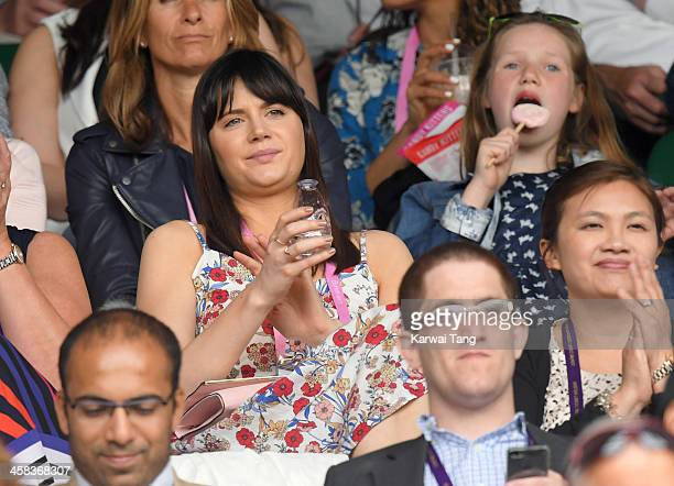 Lilah Parsons attends day six of the Wimbledon Tennis Championships at Wimbledon on July 02 2016 in London England