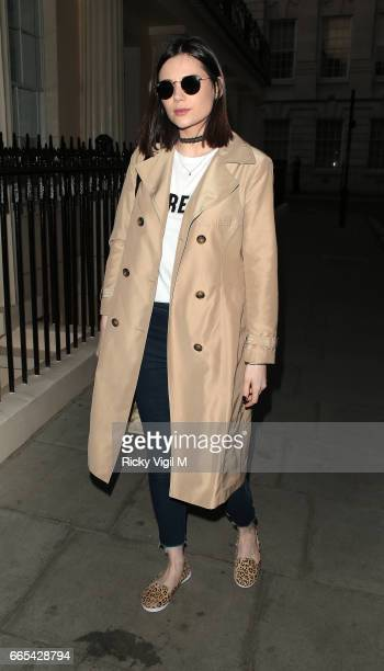 Lilah Parsons attends New Look pool party at The Haymarket Hotel on April 6 2017 in London England