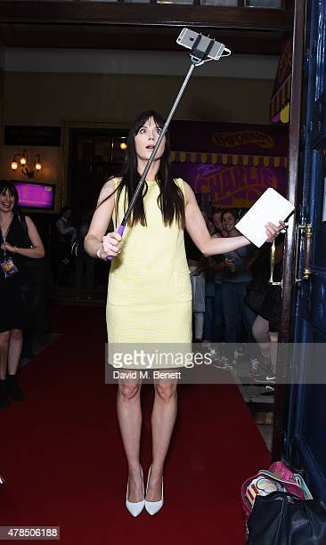 Lilah Parsons attends the Charlie and the Chocolate Factory second birthday in the West End at Theatre Royal on June 25 2015 in London England