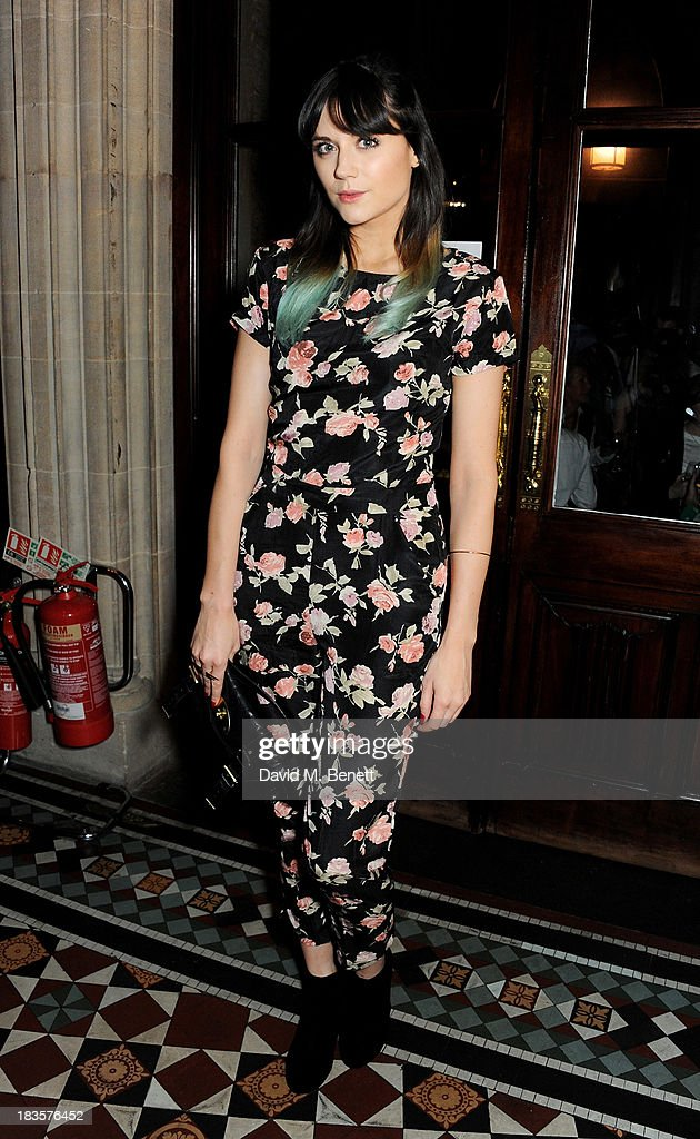 Lilah Parsons attends the 'Models & Mothers' private view, an exhibition of photographs by Morwenna Lytton Cobbold, at The Gilbert Scott restaurant in the St Pancras Renaissance Hotel on October 7, 2013 in London, England.
