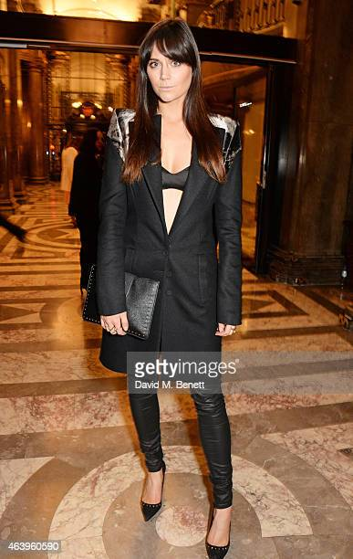 Lilah Parsons attends the Sass Bide A/W Show during London Fashion Week Fall/Winter 2015/16 at Australia House on February 20 2015 in London England
