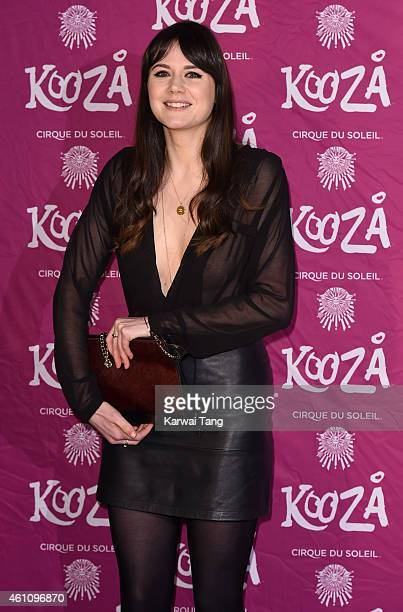 Lilah Parsons attends the VIP performance of 'Kooza' by Cirque Du Soleil at Royal Albert Hall on January 6 2015 in London England