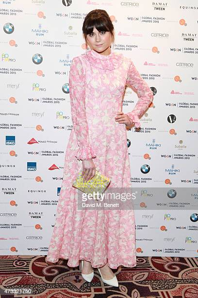 Lilah Parsons attends the WGSN Global Fashion Awards 2015 at Park Lane Hotel on May 14 2015 in London England