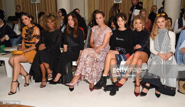 Lilah Parsons Fleur East guest Amber Le Bon Ella Hunt Olivia Cox and Niomi Smart attend the DAKS show during London Fashion Week September 2017 at...