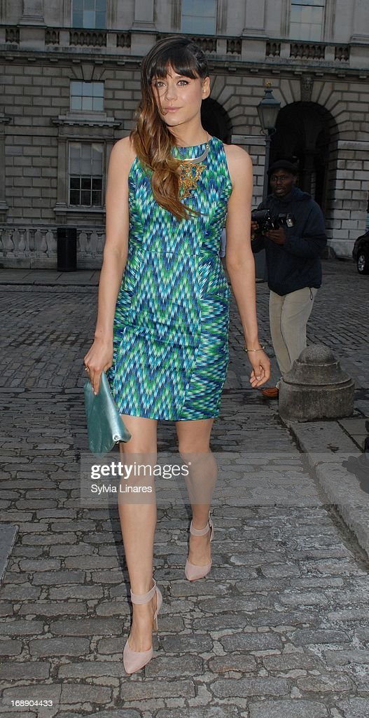 Lilah Parsons leaving Somerset House on May 16, 2013 in London, England.