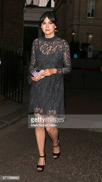 Lilah Parsons leaving the Syco summer party at St James' Palace on July 18 2016 in London England