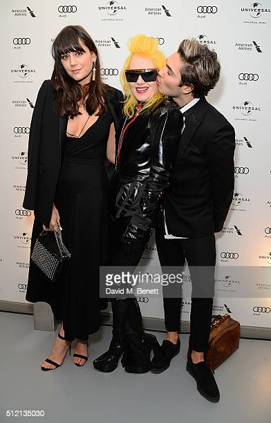 Lilah Parsons Pam Hogg and George Shelley attend the Universal Music BRIT Awards AfterParty 2016 in collaboration with Soho House on February 24 2016...