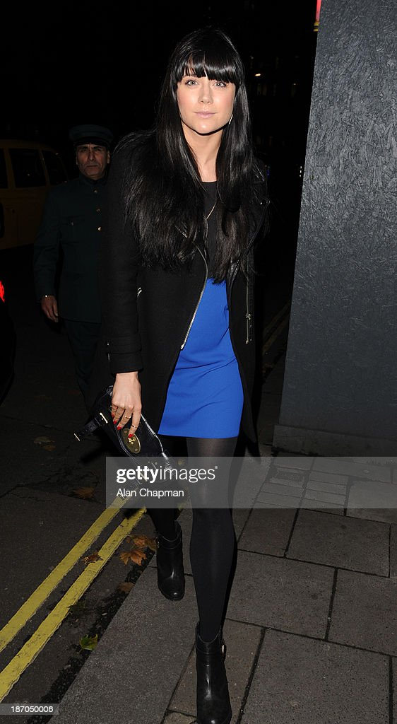 Lilah Parsons sighting at Annabels Berkeley Square on November 5, 2013 in London, England.