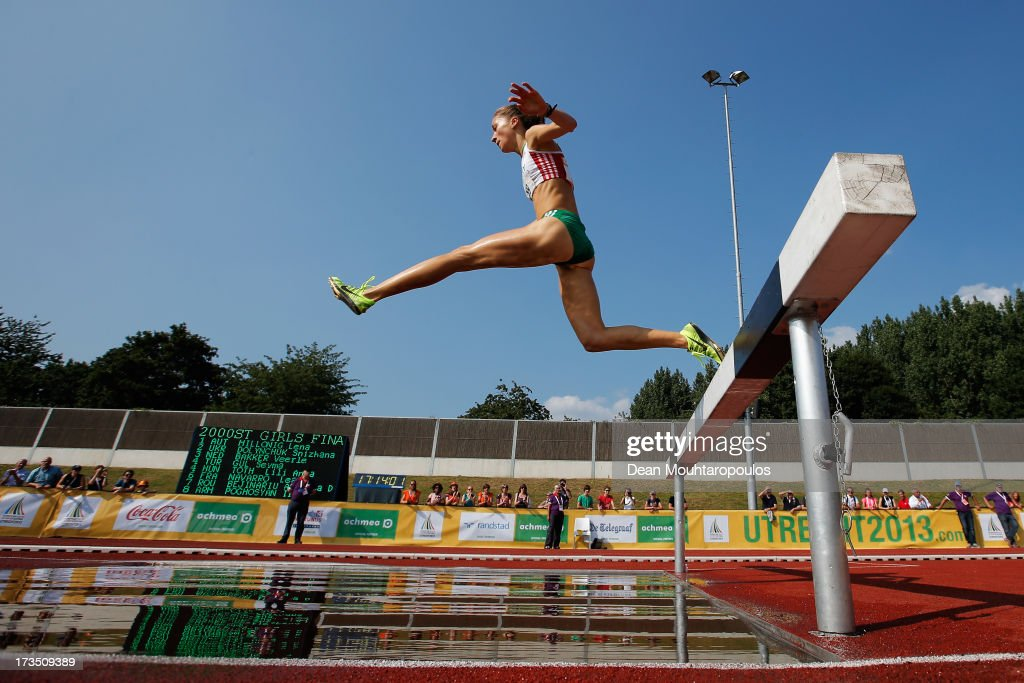 Lili Anna Toth of Hungary competes in the 2000m Girls steeple race during the European Youth Olympic Festival held at the Athletics Track Maarschalkersweerd on July 15, 2013 in Utrecht, Netherlands.