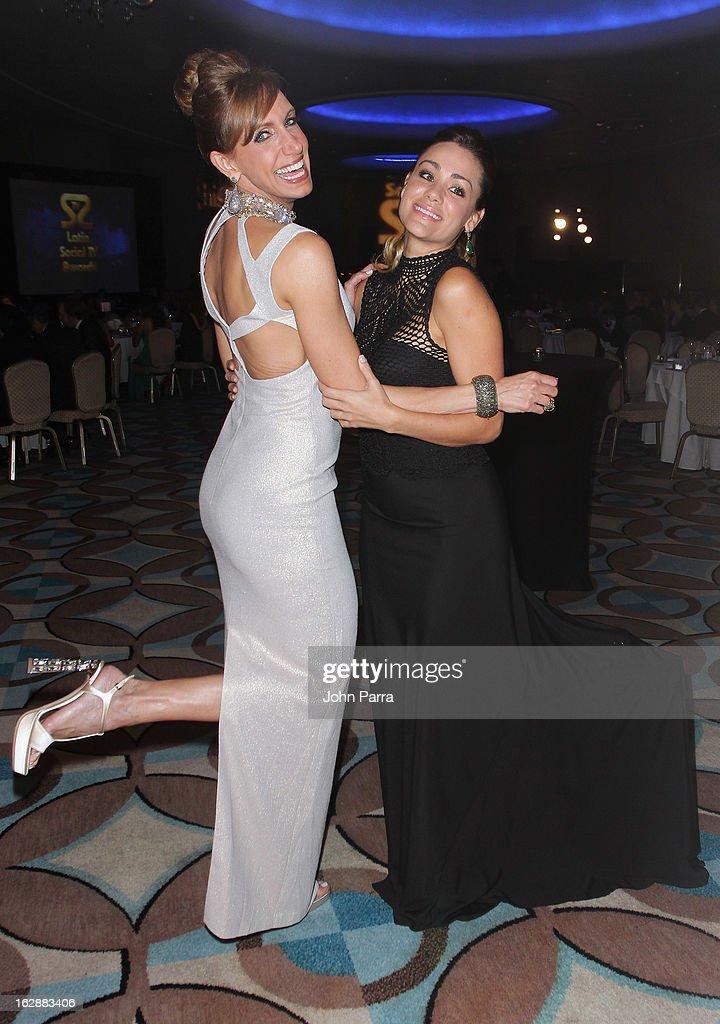 Lili Estefan and Gloria Ordaz attend the 2013 Latin Social TV Awards at Fontainebleau Miami Beach on February 28, 2013 in Miami Beach, Florida.