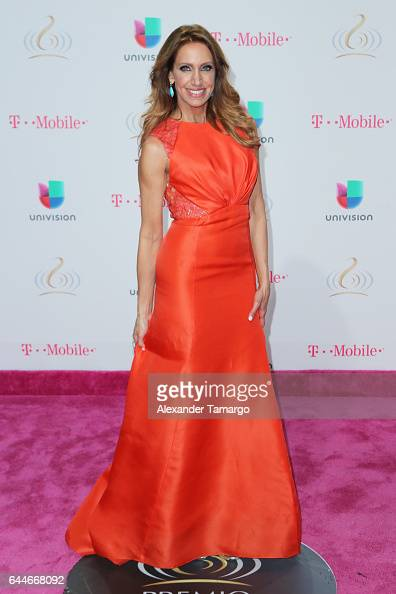 Lili Estefan attends Univision's 29th Edition of Premio Lo Nuestro A La Musica Latina at the American Airlines Arena on February 23 2017 in Miami...