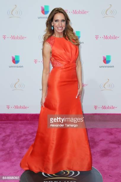 Lili Estefan attends Univision's 29th Edition of Premio Lo Nuestro A La Musica Latina at the American Airlines Arena on February 23 2017 in Miami...