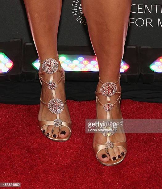 Lili Estefan shoe detail attends Univision And The Paley Center For Media Host And Evening Honoring Mario Kruetzberger at The Paley Center for Media...
