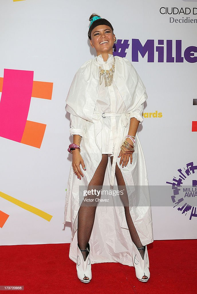 Lili of Bomba Estéreo attends the MTV Millennial Awards 2013 at Foro Corona on July 16, 2013 in Mexico City, Mexico.