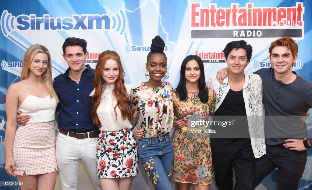 Lili Reinhart, Casey Cott, Madelaine Petsch, Ashleigh Murray, Camila Mendes, Cole Sprouse and KJ Apa attend SiriusXM's Entertainment Weekly Radio Channel Broadcasts From Comic Con 2017 at Hard Rock Hotel San Diego on July 22, 2017 in San Diego, California.