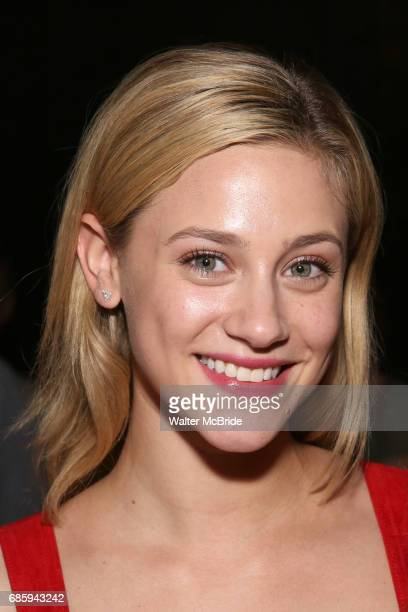 Lili Reinhart from the cast of 'Riverdale' visits Broadway's 'Bandstand' at the Bernard Jacobs Theate on May 19 2017 in New York City