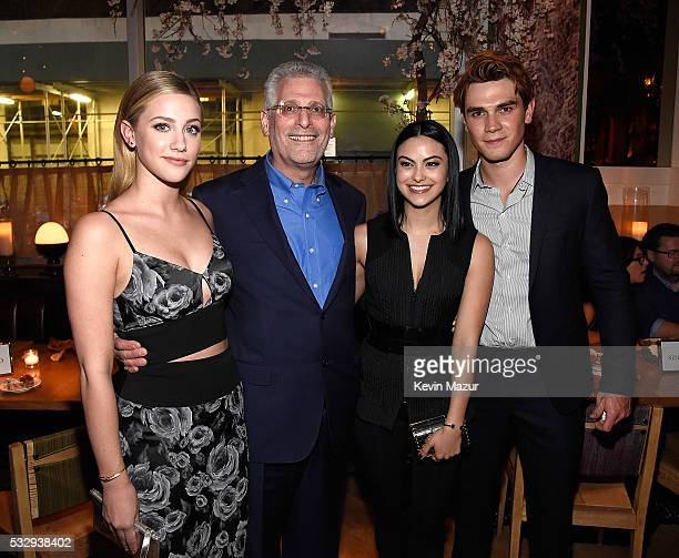 Lili Reinhart Mark Pedowitz President of The CW Television Network Camilla Mendes and KJ Apa attends The CW Network's 2016 Upfront party at Park...