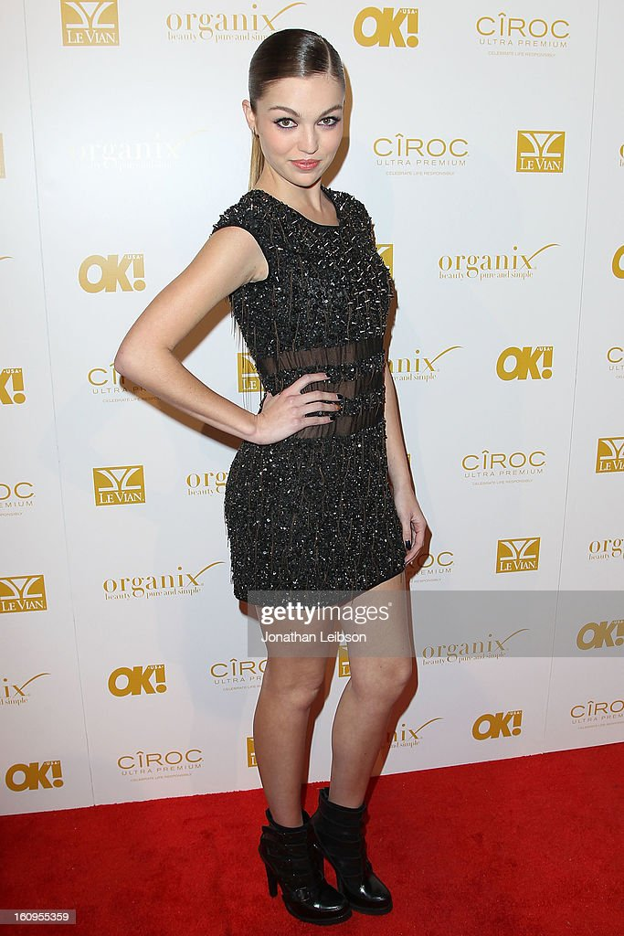 Lili Simmons attends the OK! Magazine Pre-GRAMMY Party at Sound on February 7, 2013 in Hollywood, California.